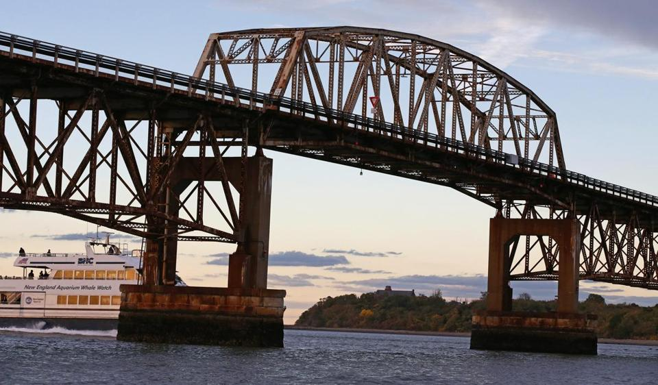 The two-lane bridge, which is two-thirds of a mile long, has connected Boston's Long Island with Quincy's Moon Island since 1951. The bridge is owned by the City of Boston.