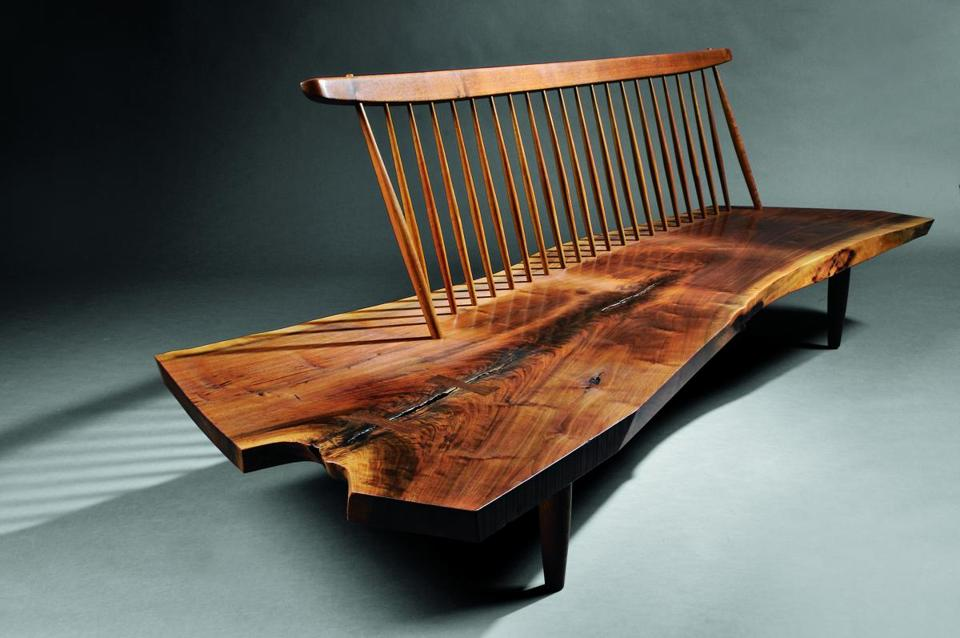 A highlight of Skinner's 20th Century Design auction is George Nakashima's  1973 black walnut and hickory - Antiques & Collectibles: Furnishings, Furniture Center Stage - The