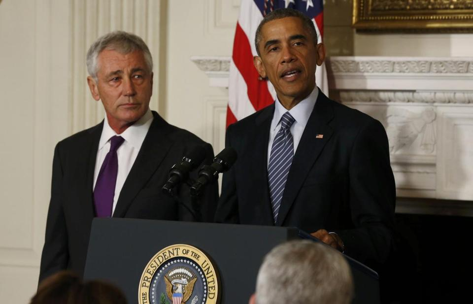 President Barack Obama announced the resignation of Defense Secretary Chuck Hagel.