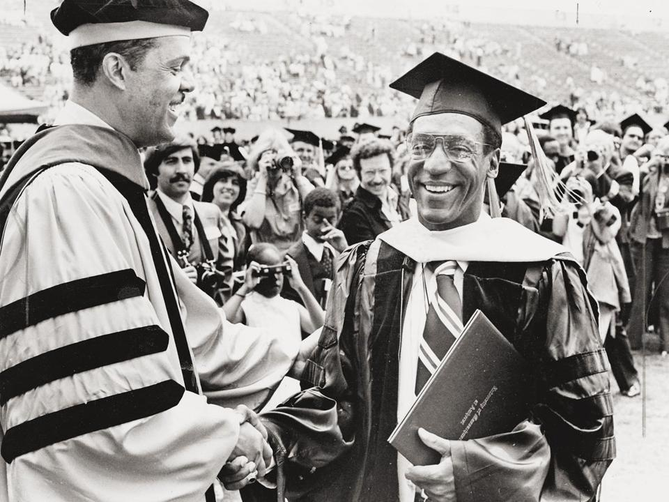 Bill Cosby received a doctorate from UMass Amherst in 1977.