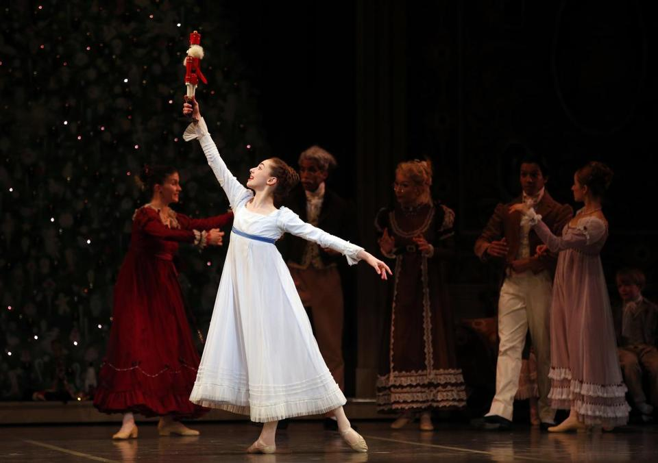 "Eliza French during Boston Ballet's dress rehearsal for ""The Nutcracker."""