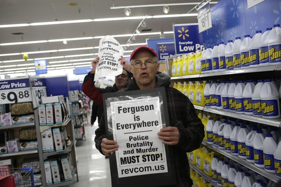 Protests over Ferguson decision hit retail stores - The Boston Globe