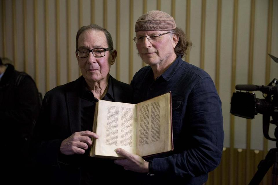 "Canadian-Israeli documentary filmmaker and writer Simcha Jacobovici (right) and religious studies professor Barrie Wilson outlined their theory that Jesus was married to Mary Magdalene and that early Christians considered her a deity in ""The Lost Gospel."""