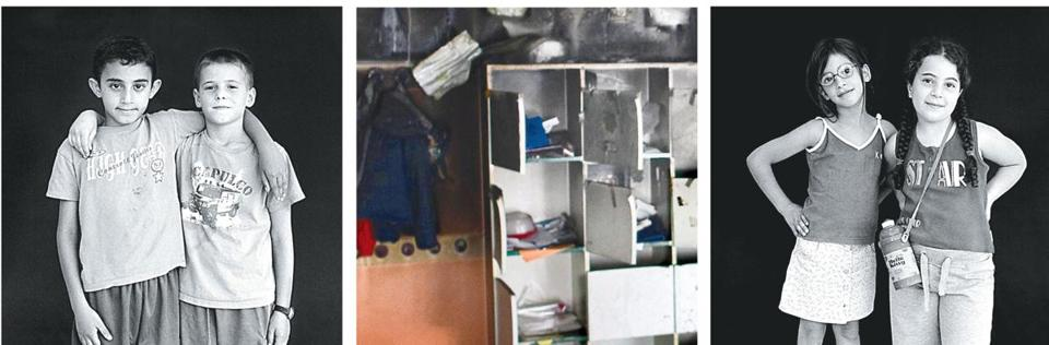 Books and toys were piled in the middle of the classroom and set on fire.
