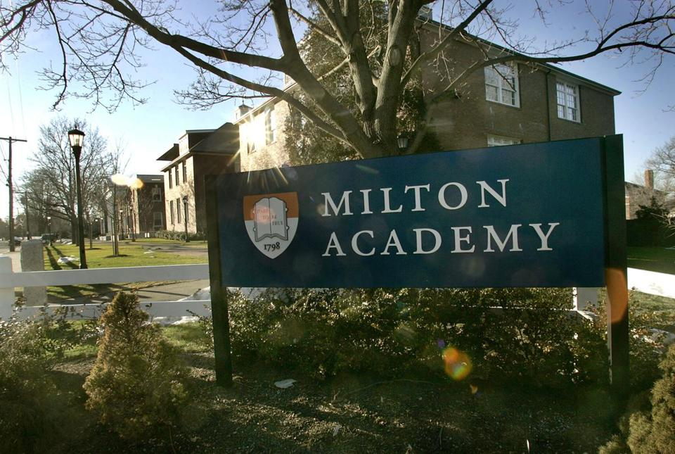 Milton Academy is a private college prepatory school.