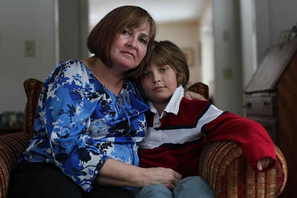 Genevieve Kelley with her son John, at her lawyer's New Hampshire home.