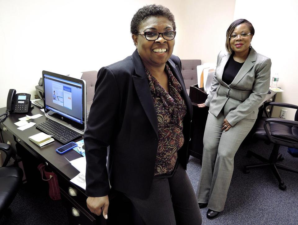 Cofounders of Ideal Healthcare Solutions of Easton, Patricia Walker (left) and Priscilla Nwachukwu.
