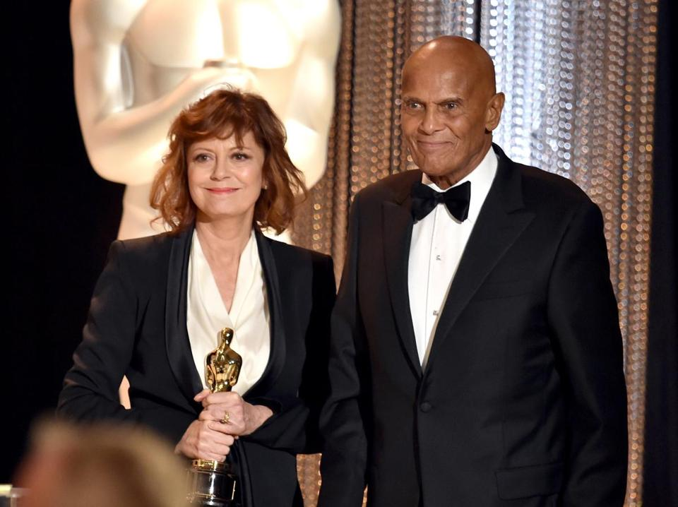 Harry Belafonte received the Jean Hersholt Humanitarian Award honoring his fight for social justice.