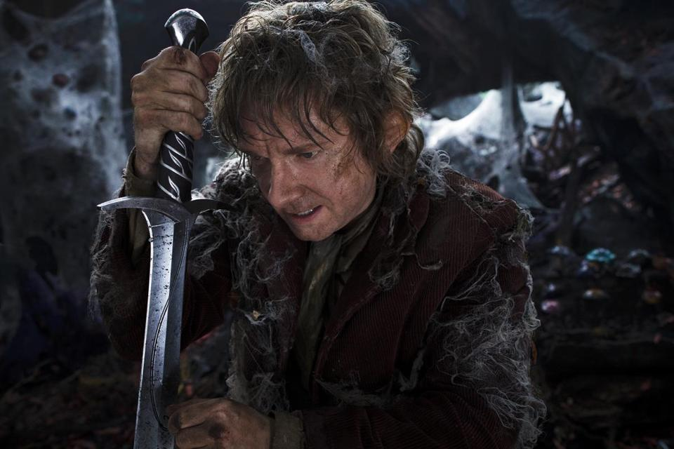 "MARTIN FREEMAN as the Hobbit Bilbo Baggins in New Line Cinema's and Metro-Goldwyn-Mayer's fantasy adventureâ ""THE HOBBIT: THE DESOLATION OF SMAUG,"" a Warner Bros. Pictures release. 13hicks"