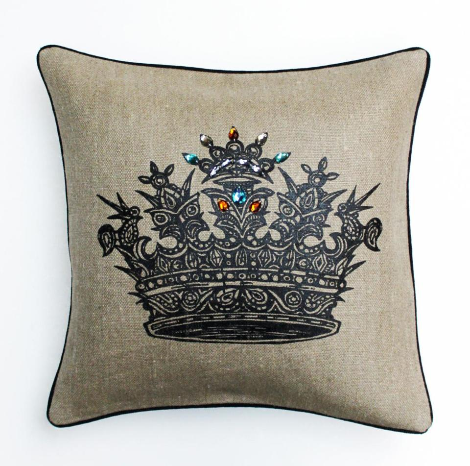 2012 GIFTS - Jeweled Crown Pillow, by PATCH NYC, $148 PATCH NYC 46 Waltham Street, Boston 617-426-0592, www.patchnyc.com Photo credit: Handout - 2012gifts 011115BOSTNSHOPPING