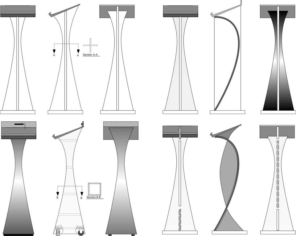 Plans for a multipurpose lectern.