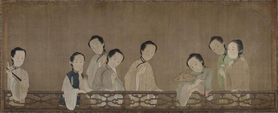 Eight Beauties about 1736 Ink and color on silk *Anonymous loan *Courtesy, Museum of Fine Arts, Boston -- 26PinUps