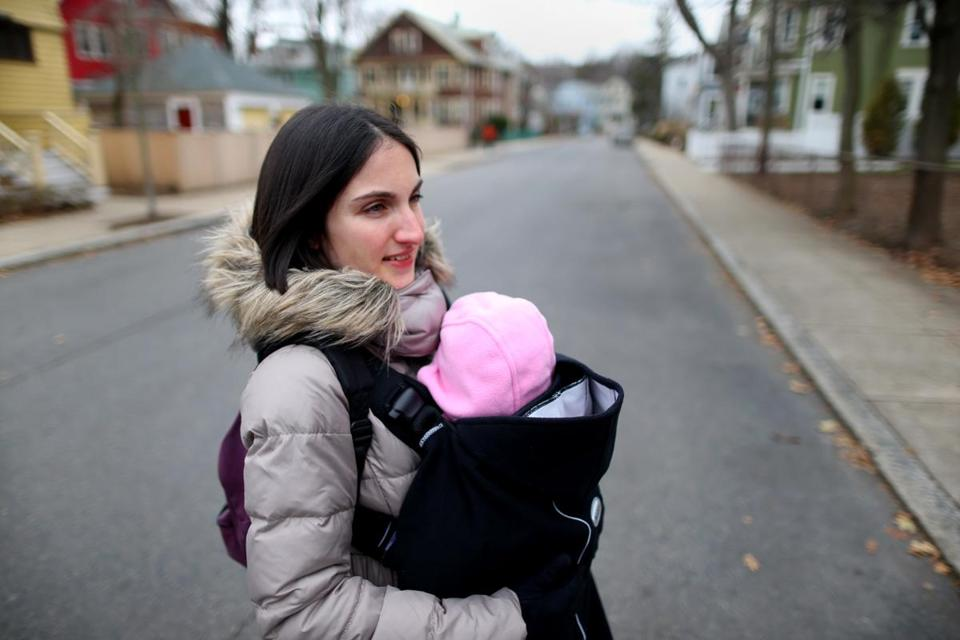 Virginie Esain (above) is one of the moms who took part in a perinatal support pilot program out of the Southern JP Health Center. The program aims to prevent postpartum depression.