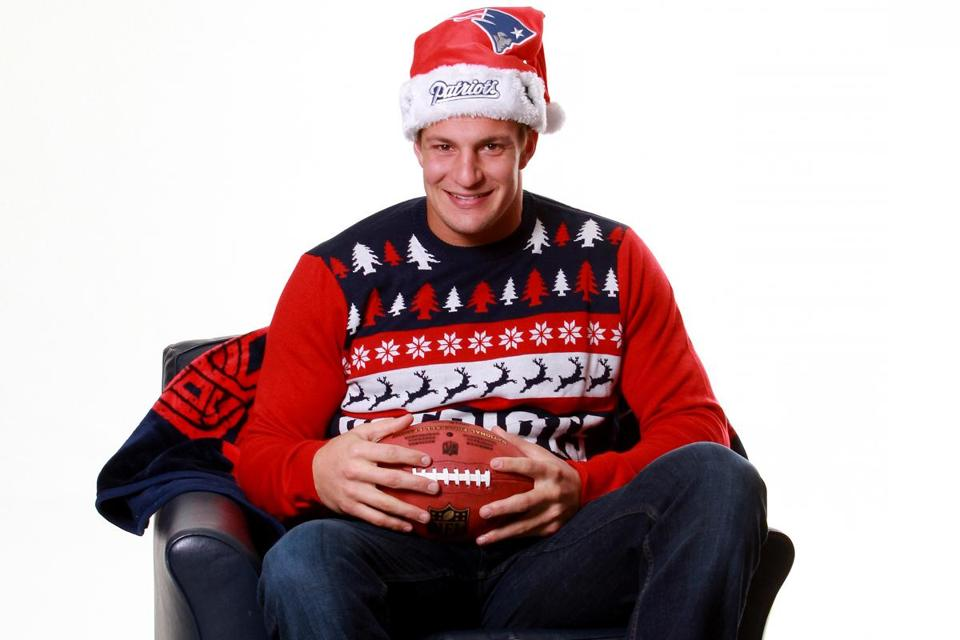 Gronk's ugly Christmas sweater sells out - The Boston Globe