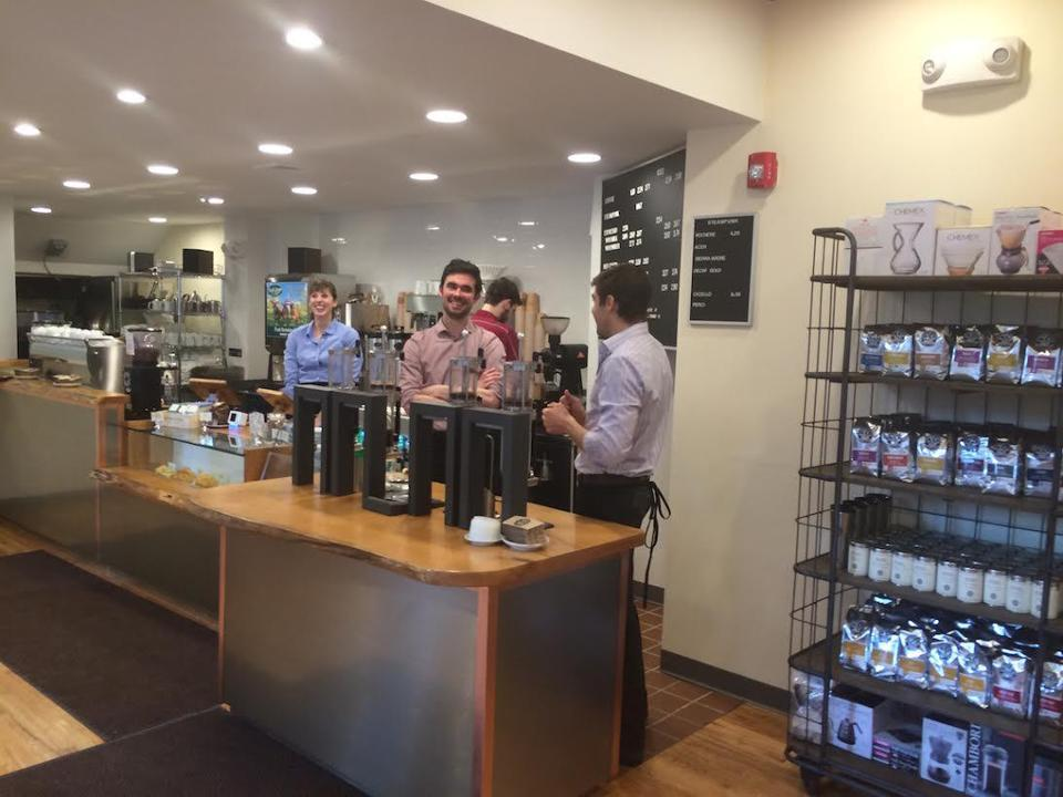 Barrington Coffee has opened a new store in Boston's Back Bay at 303 Newbury St.