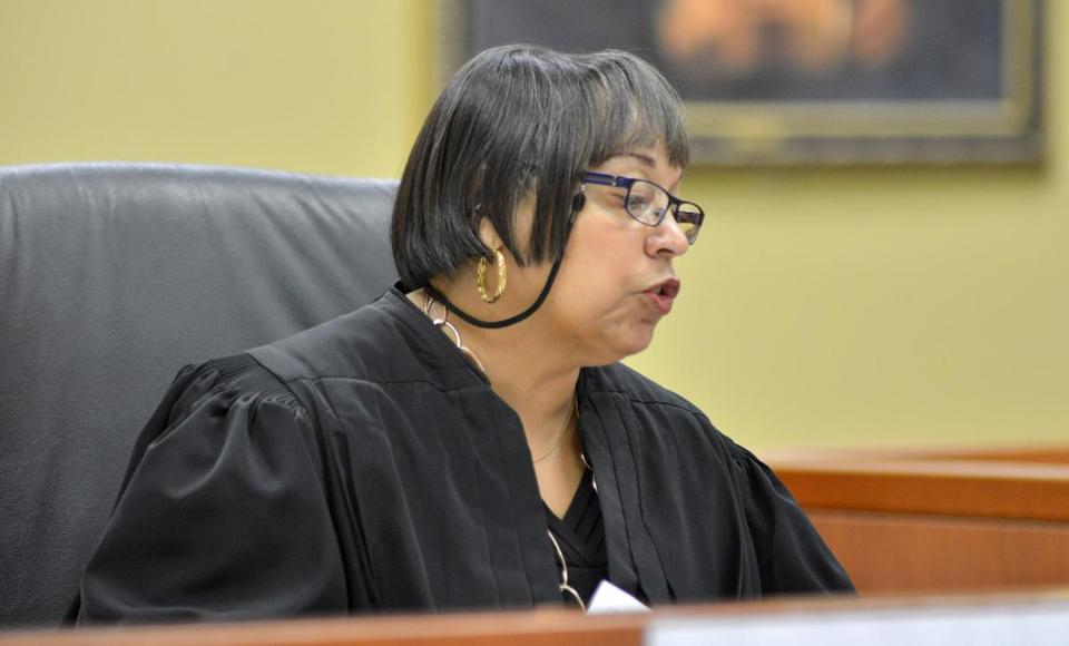 Judge Antoinette Leoney presided over the hearing Tuesday in Cambridge District Court.