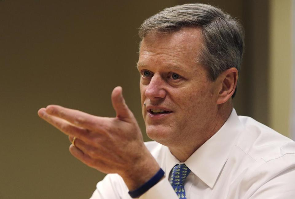 "Charlie Baker called the program ""a great idea."" (AP Photo/Charles Krupa)"