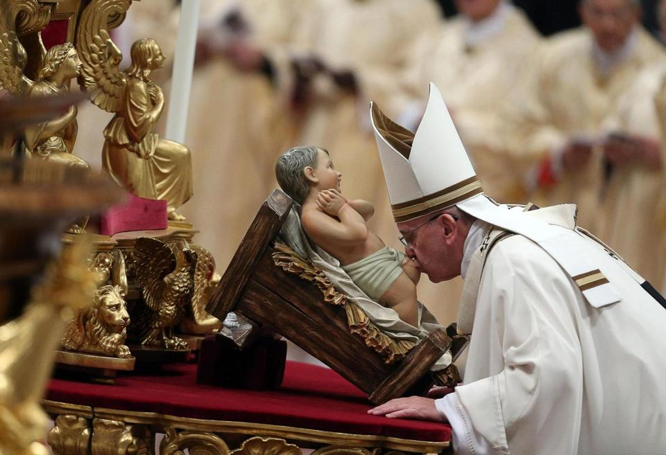 Pope marks Christmas Eve with late-night Vatican Mass - The Boston ...