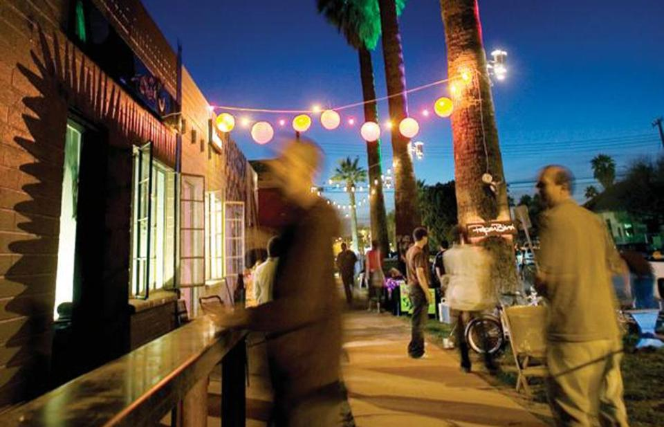 Galleries, studios, and art spaces enliven the streets of Roosevelt Row.