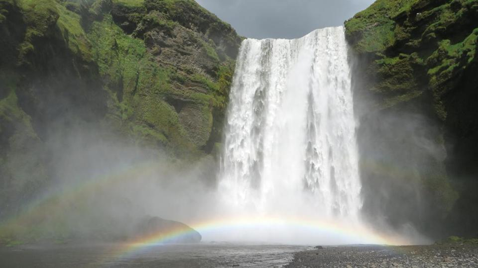 Skgafoss Is One Of Icelands Biggest Almost 200 Feet High And Most Famous