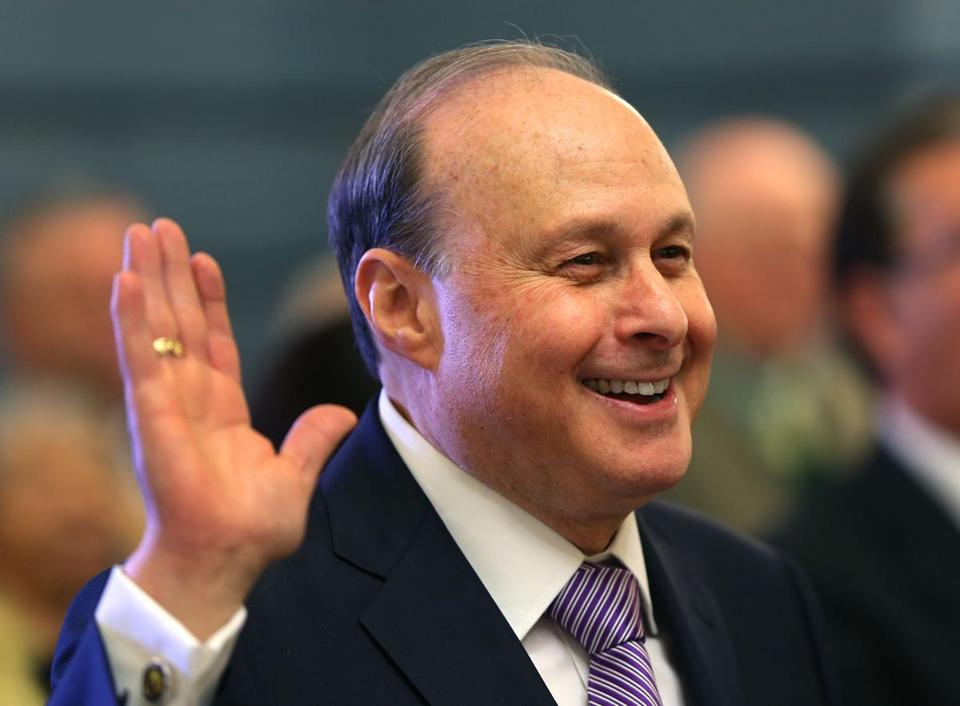 Stanley Rosenberg was sworn in as the new Senate president on Wednesday.