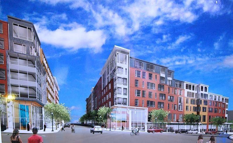 A rendering of the proposed development in Malden.