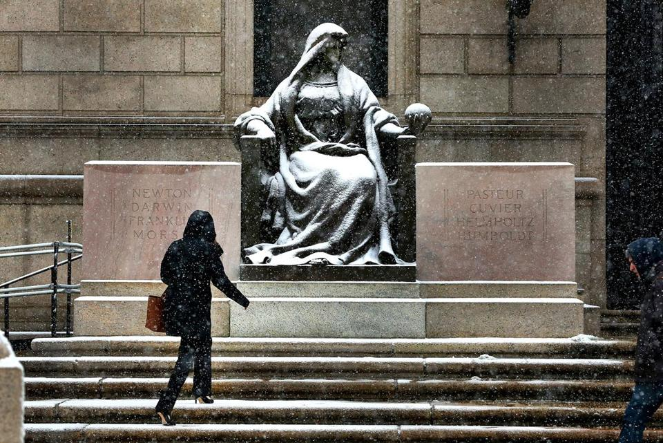 Image result for boston public library in snow