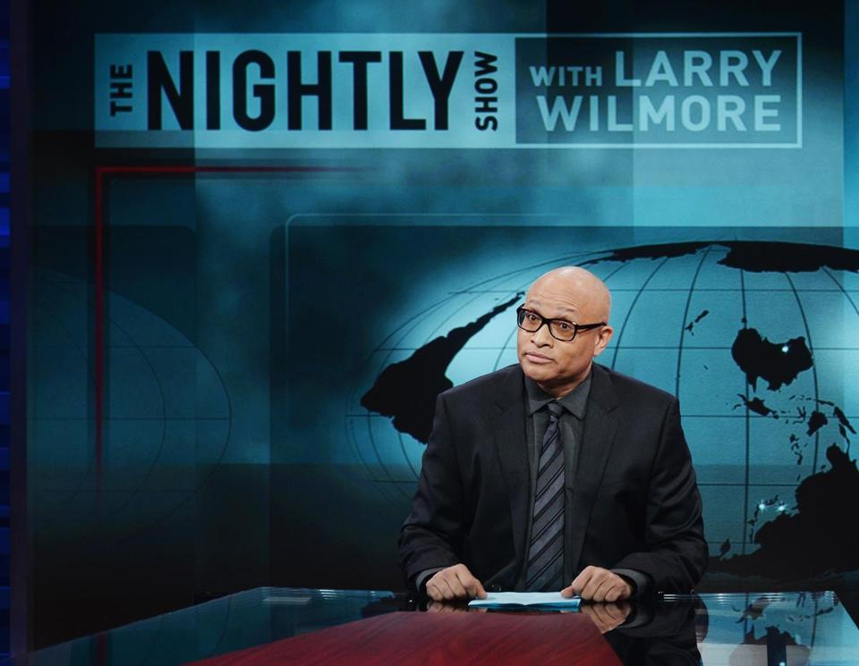 "Host Larry Wilmore appeared on the debut episode of Comedy Central's ""The Nightly Show with Larry Wilmore."""