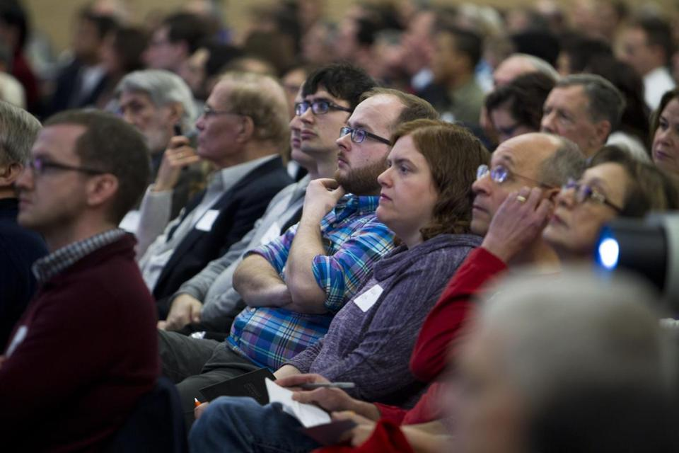 Hundreds attended a public hearing on Boston's Olympic bid Wednesday