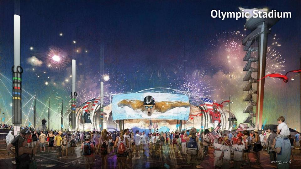 A proposed Olympic Stadium in Boston.