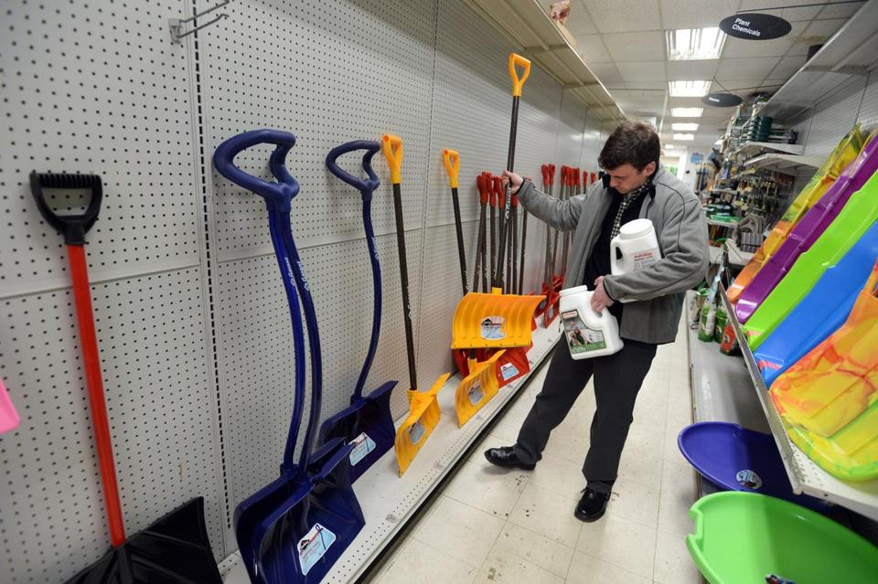 A shopper bought a shovel at Woodside ACE Hardware in Winthrop.