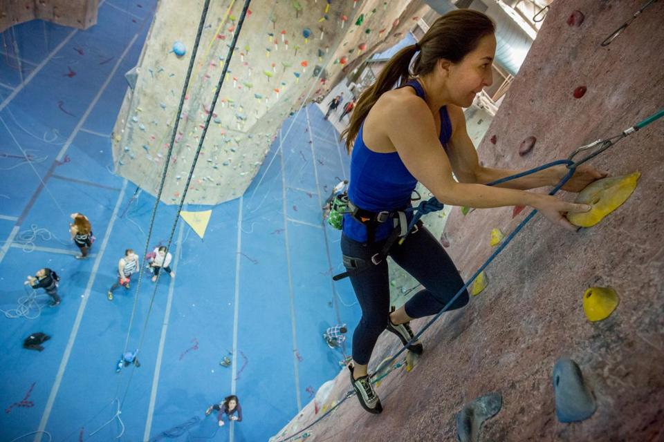 Ana Maria Cardenas Used A Lead Rope To Climb Wall At Metrorock In Everett Last