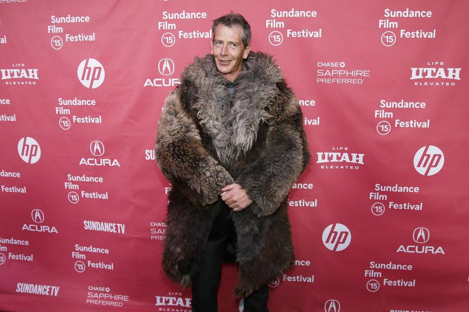 "Actor Ben Mendelsohn wore a coat that his character wears in the film at the premiere of ""Slow West"" during the 2015 Sundance Film Festival on Jan. 24 in Park City, Utah."