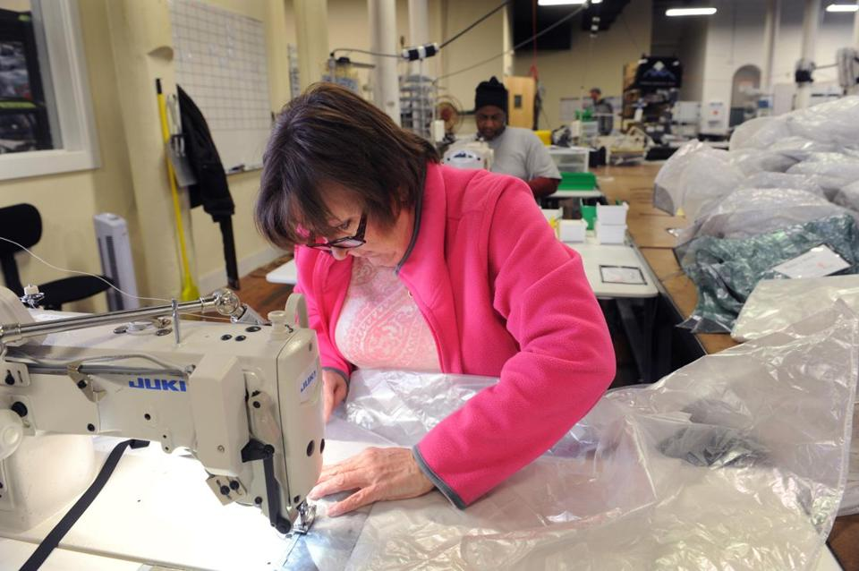 Deena Presby is a stitcher at Hyperlite Mountain Gear, where she's helping to keep Biddeford's textile tradition alive.
