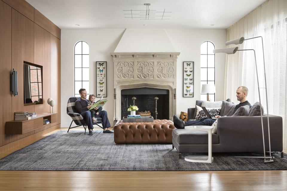 Tudor Revival Interiors bringing urban style to a newton home - the boston globe