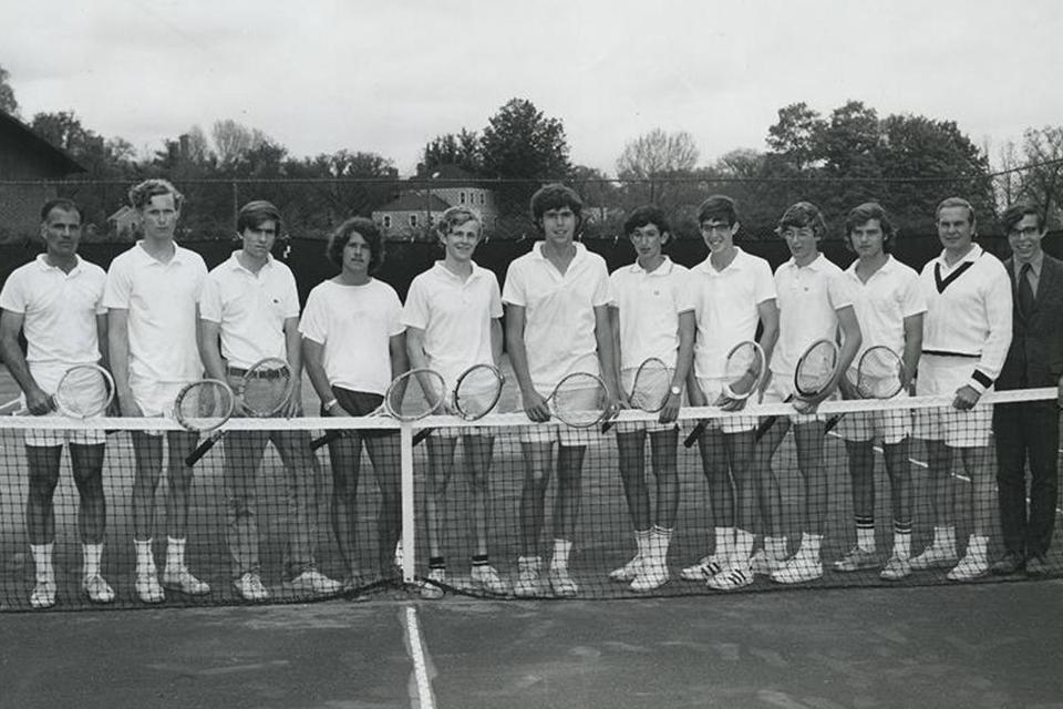 Jeb Bush (sixth from left) was captain of the tennis team.