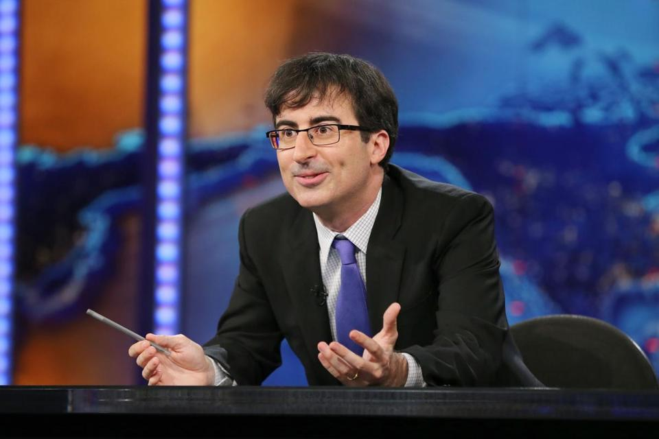 "John Oliver took over as summer guest host of ""The Daily Show with Jon Stewart"" in 2013."