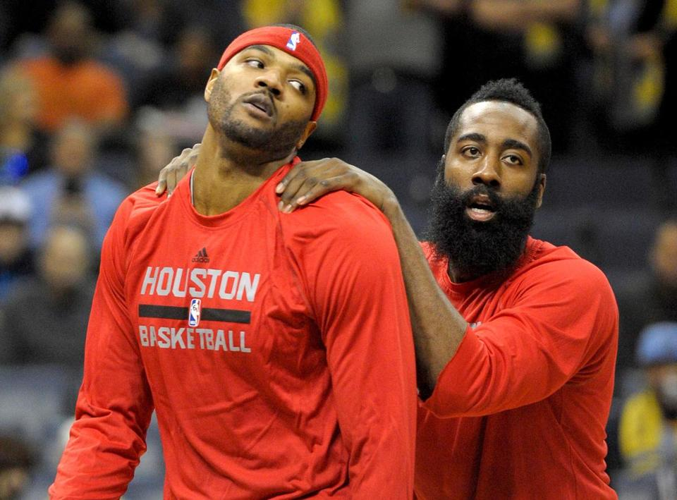 Houston's Josh Smith (left) and James Harden are settling into a groove.