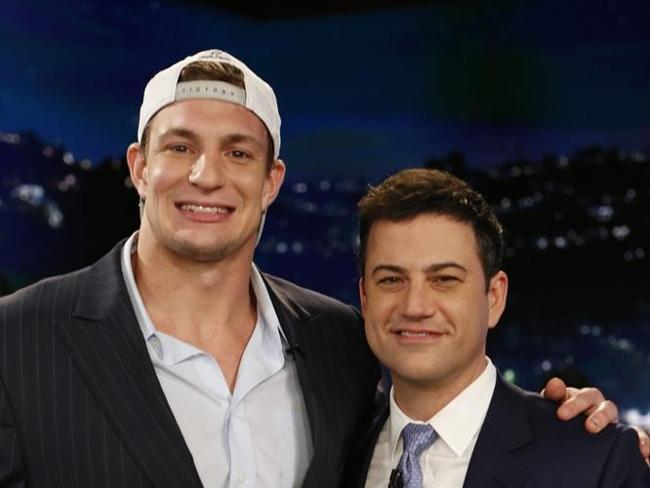 "The Patriots' Rob Gronkowski was a guest on Monday night's ""Jimmy Kimmel Live"" on ABC."