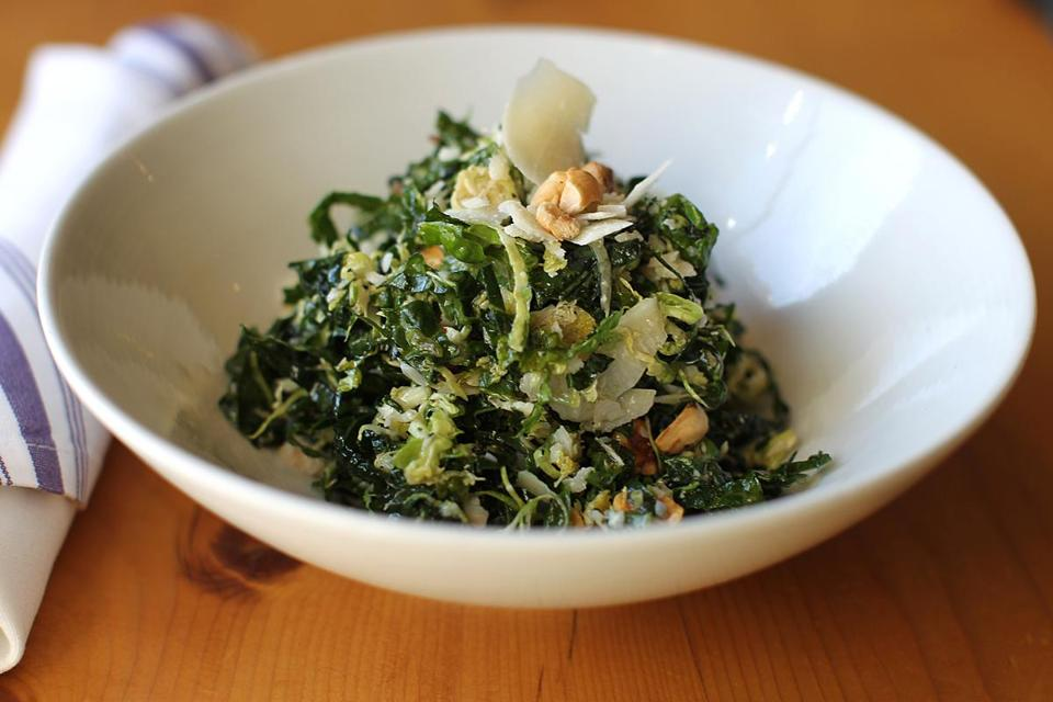 Recipe for kale and Brussels sprouts saladThe Boston Globe