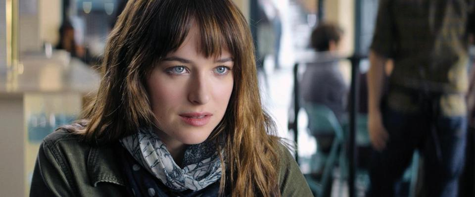 Dakota Johnson in the 2015 film FIFTY SHADES OF GREY, directed by Sam Taylor-Johnson.