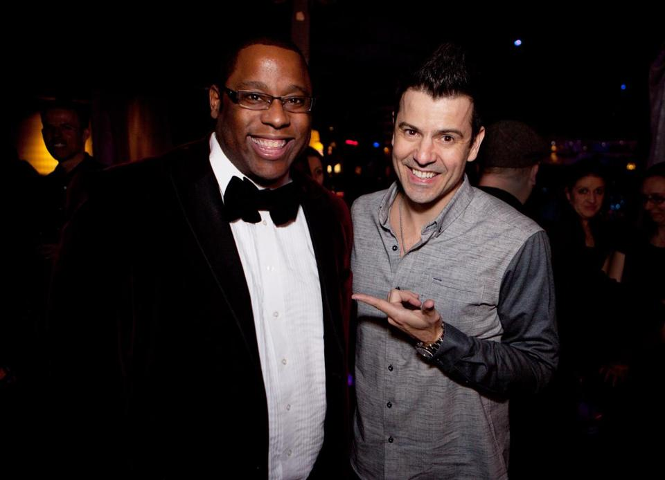 Tito Jackson (left) and Jordan Knight at The Estate on Saturday.