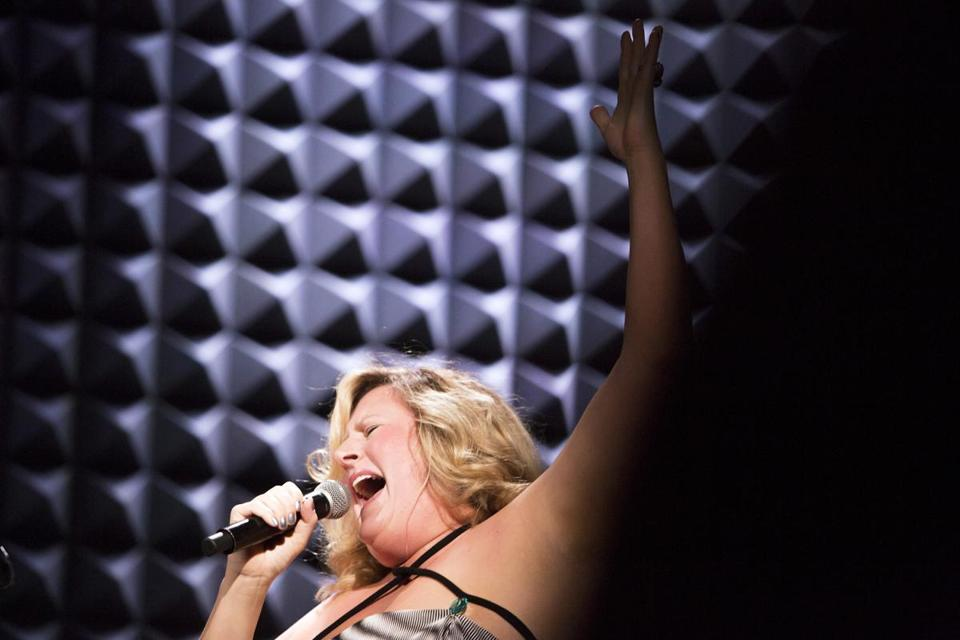 Bridget Everett performing at Joe's Pub in New York.