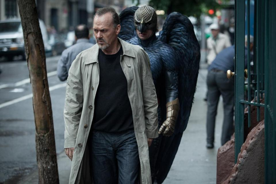 "Michael Keaton as ""Riggan"" in the film ""Birdman,"" which is nominated for Best Picture."