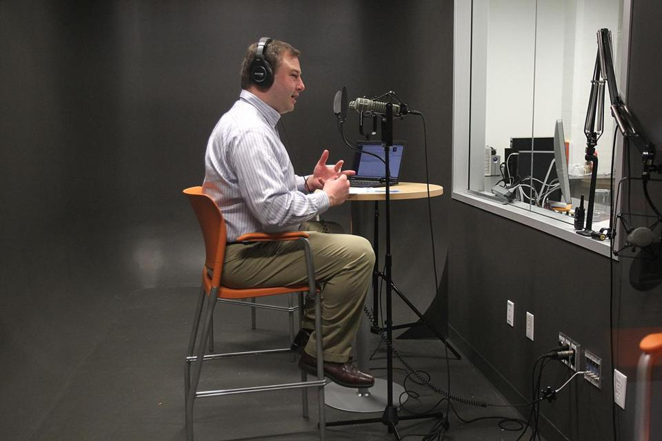 "Mike Volpe of HubSpot recorded his weekly podcast ""The Growth Show.''"