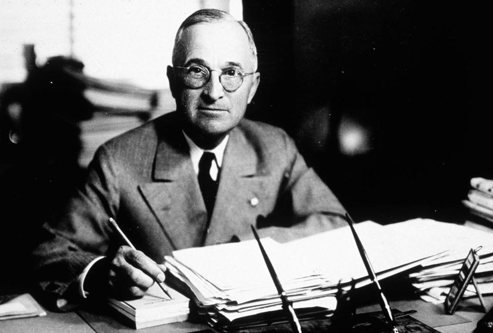 Harry S. Truman, the 33rd president of the United States.