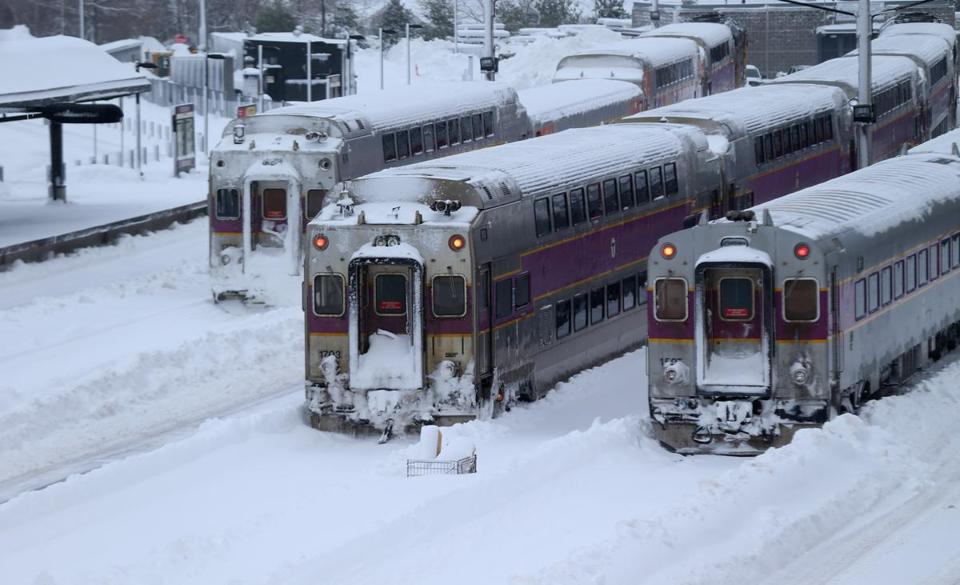 The Greenbush line in Scituate was shut down earlier this month because of heavy snow.