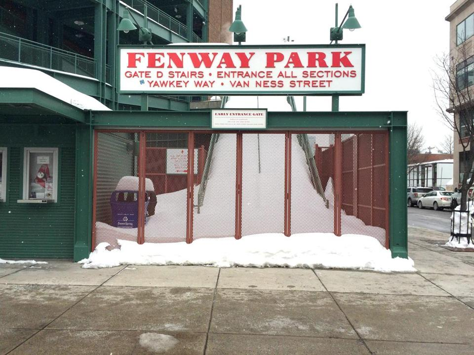 When the truck returns, Fenway Park should be in better shape.