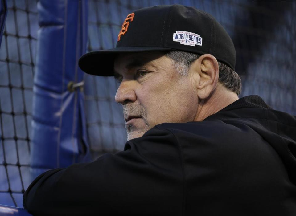 Giants manager Bruce Bochy's three World Series titles in five years help his cause greatly.