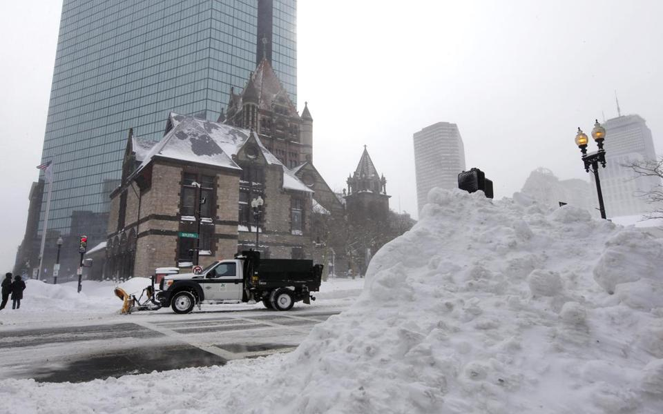 "In an example of ""preponing"" instead of postponing services, Trinity Church in Copley Square held services Saturday afternoon so that the church could stay closed Sunday."